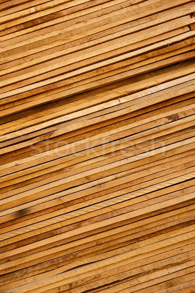 Slanted Stack of Wooden Planks Background Stock photo © pixelsnap