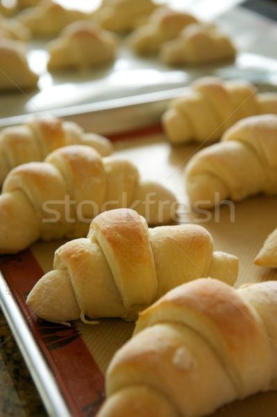 Stockfoto: Dienblad · vers · oven · metaal · gebakken
