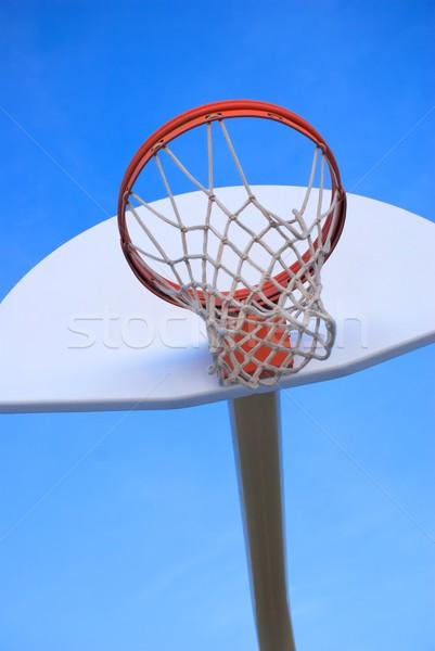 Kosárlabda fényes narancs tiszta fehér lövés Stock fotó © pixelsnap
