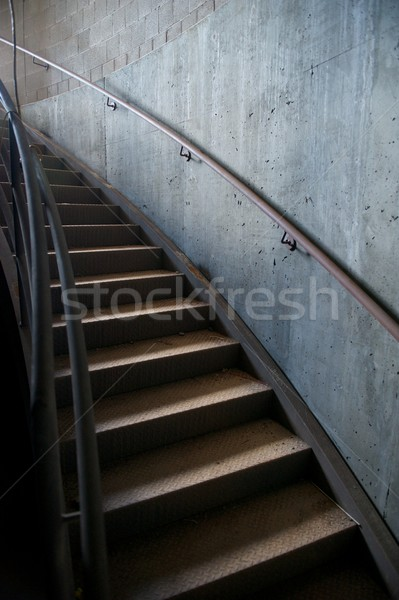 Metal and Concrete Industrial Curved Staircase Stock photo © pixelsnap