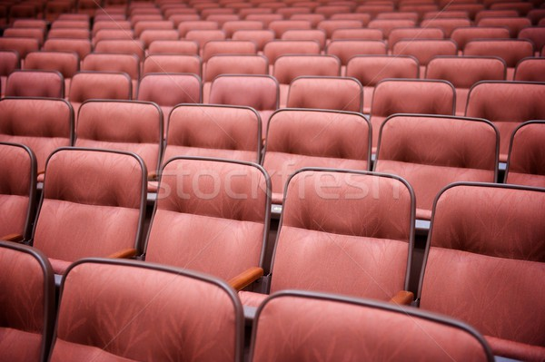 Many Rows of Empty Theatre Seating Stock photo © pixelsnap