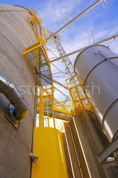 Gabona citromsárga biztonság függőleges lövés beton Stock fotó © pixelsnap