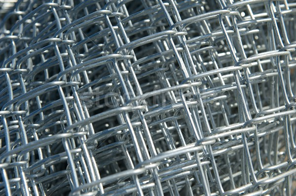 Roll of New Chain Link Fencing Material Stock photo © pixelsnap