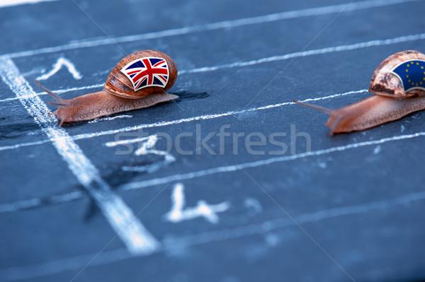 Verseny metafora Anglia Európa pénz vidék Stock fotó © pixinoo