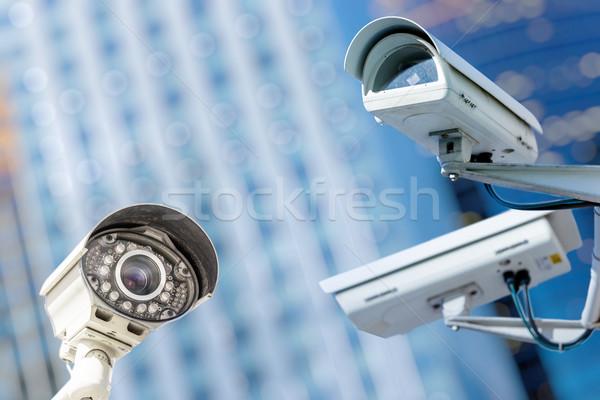 Aparatu bezpieczeństwa miejskich wideo przestępczości bezpieczeństwa bezpieczne Zdjęcia stock © pixinoo