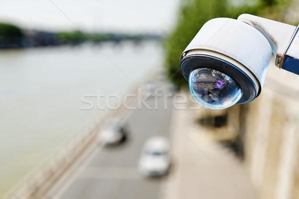 サーベイランス カメラ 道路 ビデオ 速度 ストックフォト © pixinoo