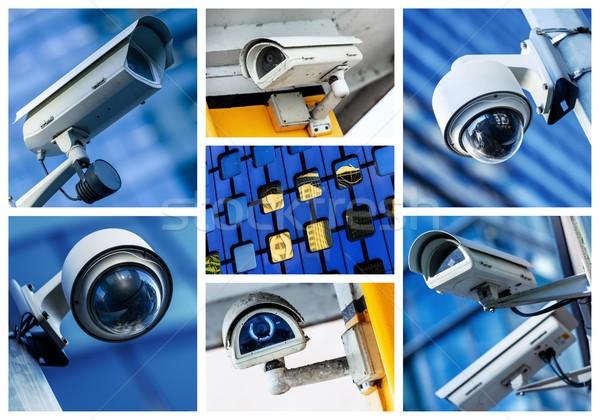 Сток-фото: коллаж · камеры · безопасности · городского · видео · улице · полиции