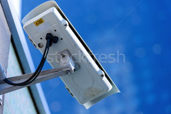 Сток-фото: безопасности · кабельное · телевидение · камеры · наблюдение · офисное · здание · улице