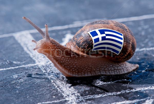 Gagner escargot couleurs Grèce pavillon Photo stock © pixinoo
