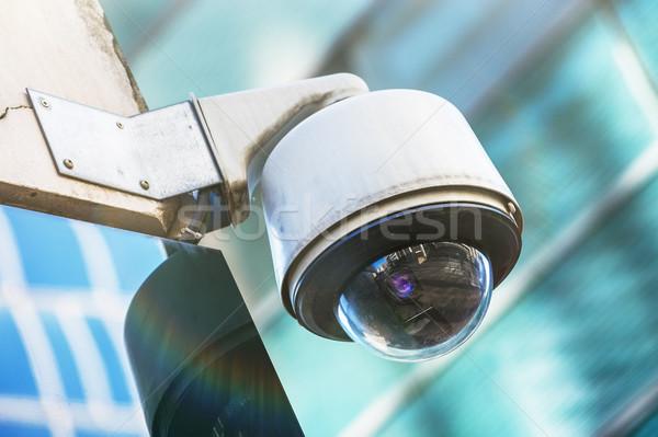 Cámara de seguridad urbanas vídeo calle seguridad circuito Foto stock © pixinoo