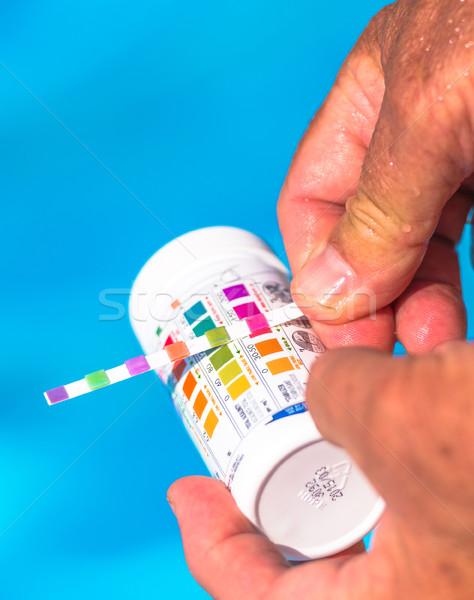 Vérifier piscine piscine couleur natation graphique Photo stock © pixinoo