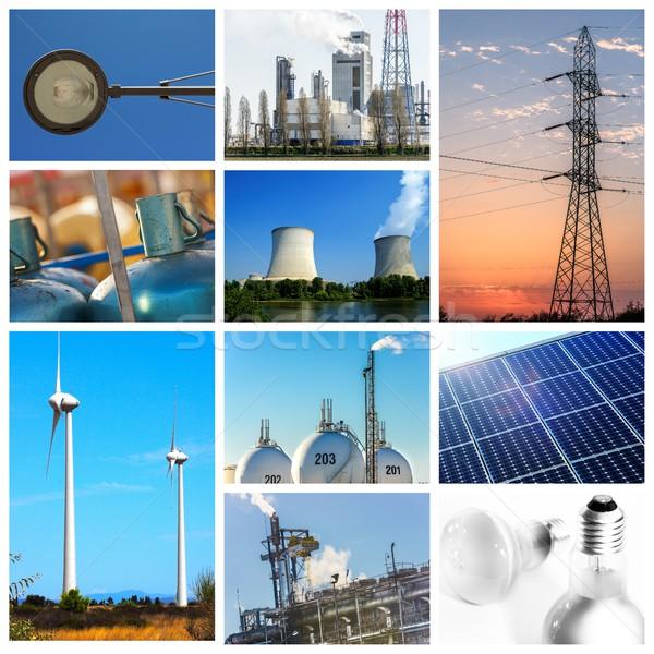 Erő energia fogalmak nap ipar ipari Stock fotó © pixinoo