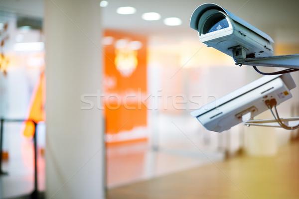 Biztonsági kamera városi videó bent bűnözés biztonság Stock fotó © pixinoo