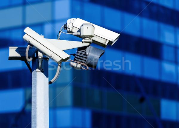 Stok fotoğraf: Güvenlik · cctv · kamera · ofis · binası · sokak