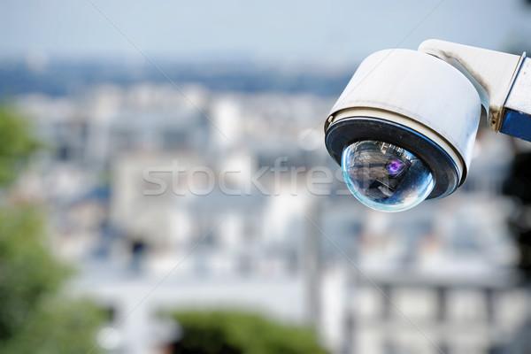 security camera on a city Stock photo © pixinoo