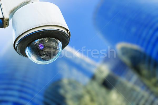 Caméra de sécurité urbaine vidéo bâtiment crime sécurité Photo stock © pixinoo