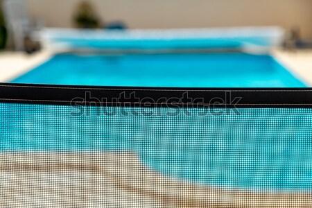 Veiligheid kinderen zwembad kind metaal zomer Stockfoto © pixinoo