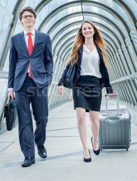 Cégvezetők dinamika üzleti út vállalati előadás üzlet Stock fotó © pixinoo