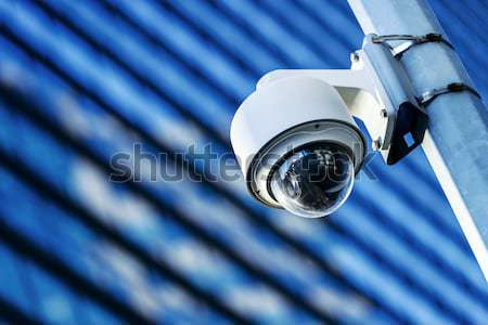 Telecamera di sicurezza urbana video costruzione criminalità sicurezza Foto d'archivio © pixinoo