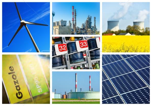 Collage macht energie licht groene Stockfoto © pixinoo