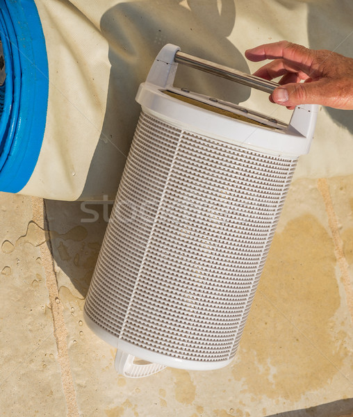 Stok fotoğraf: Kartuş · havuz · filtre · hizmet · depolama · teknik