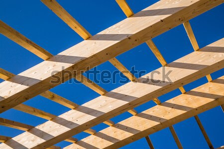 Photo stock: Résidentiel · construction · maison · ciel · bleu · nouvelle · maison