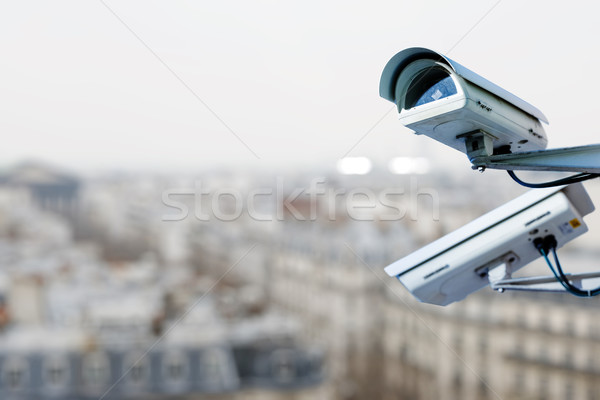 security camera on a city Stock photo © pixinoo