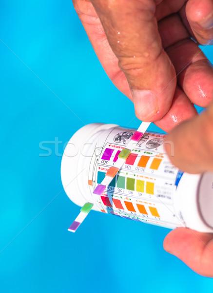 Kontrol yüzme havuzu havuz renk yüzme grafik Stok fotoğraf © pixinoo