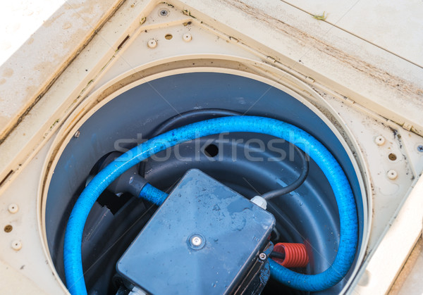 Maintenance of the pumping system of a pool Stock photo © pixinoo