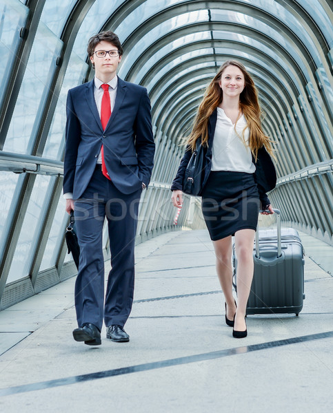 Junior executives dynamics in business trip Stock photo © pixinoo