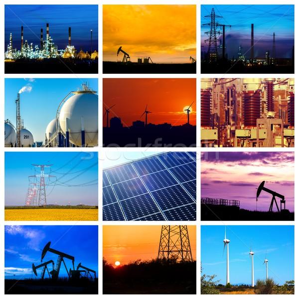 Stock fotó: Kollázs · erő · energia · fogalmak · termékek · víz