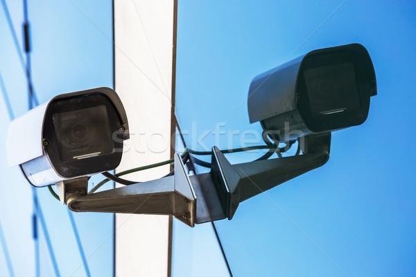 Güvenlik kamera kentsel video sokak güvenlik devre Stok fotoğraf © pixinoo