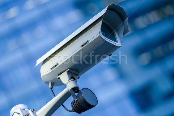 Sicurezza cctv fotocamera edificio per uffici strada Foto d'archivio © pixinoo