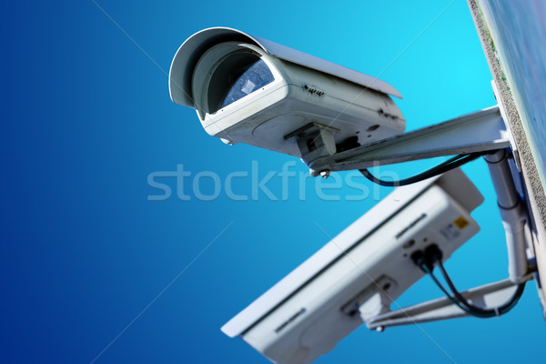 Stock photo: security CCTV camera or surveillance system in office building