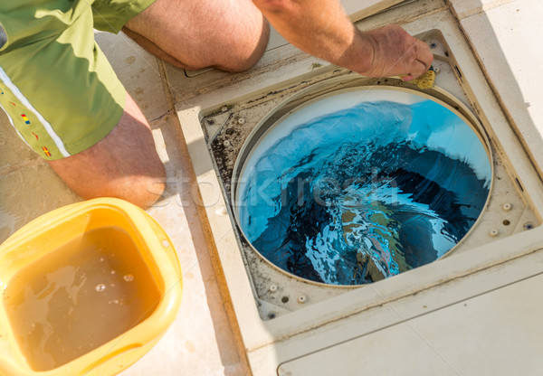 Control filtration system pool Stock photo © pixinoo
