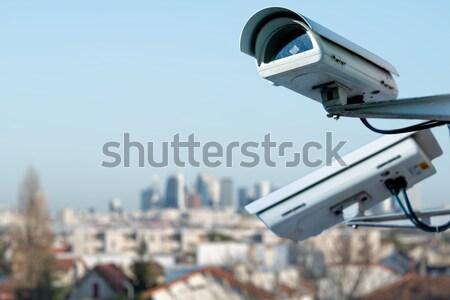 Sicurezza cctv fotocamera edificio per uffici telecamera di sicurezza Foto d'archivio © pixinoo