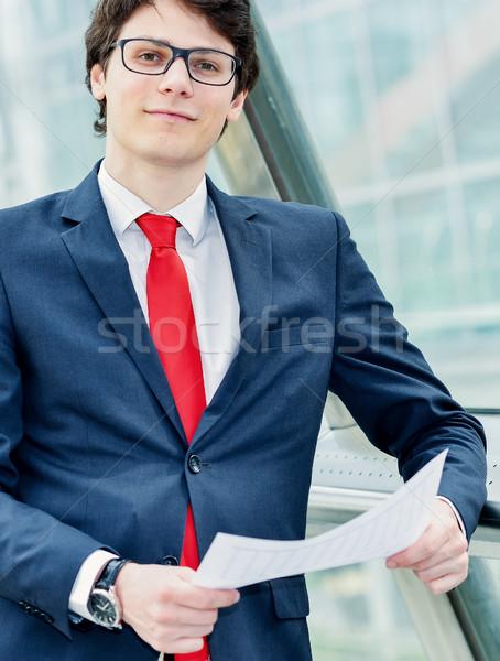 Gens d'affaires exécutif à l'extérieur bureau affaires marche Photo stock © pixinoo