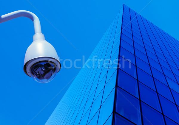 Városi biztonság fényképezőgépek utca videó áramkör Stock fotó © pixinoo