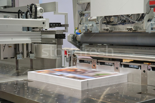 Machine print winkel Stockfoto © pixpack
