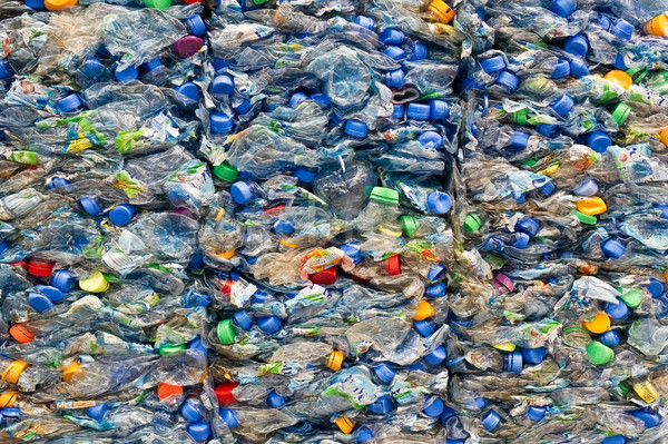Big stack of old plastic bottles Stock photo © pixpack