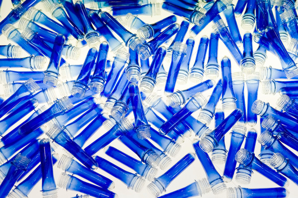 Bleu plastique contenant emballage transparent Photo stock © pixpack