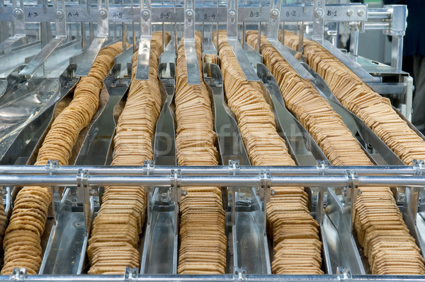 Production of biscuits Stock photo © pixpack