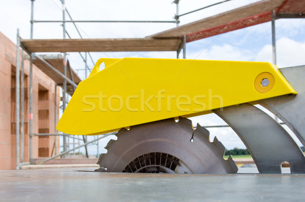 Zag bouwplaats muur baksteen architectuur Stockfoto © pixpack