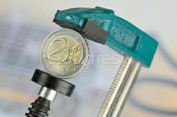 Euro moneta soldi stampa turchese Foto d'archivio © pixpack