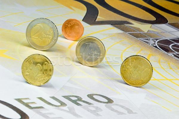 Euro monet Zdjęcia stock © pixpack