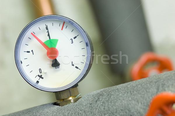 Pressure gauge on a boiler Stock photo © pixpack