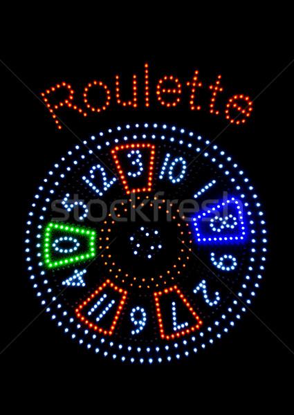 Kasyno pieniężnych gry zwycięzca hazardu Gamble Zdjęcia stock © pixpack