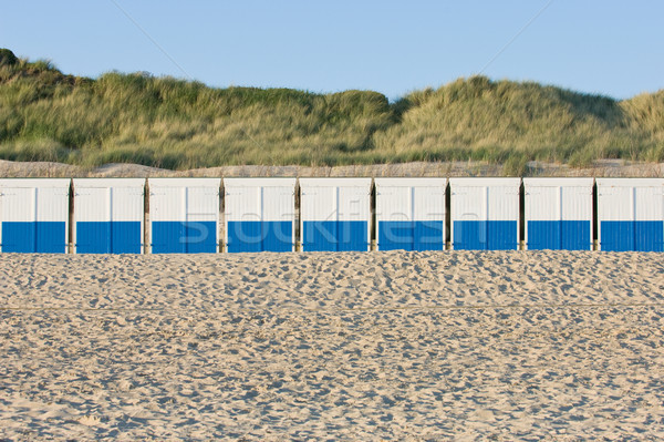 Beach barracks at the northsea, the Netherlands Stock photo © pixpack