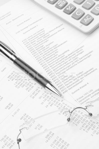 Rachunkowości podatku konto obliczać księgowość obliczenie Zdjęcia stock © pixpack