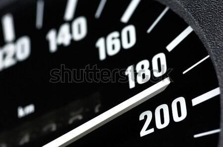 Revolutie counter zwarte witte snel racing Stockfoto © pixpack